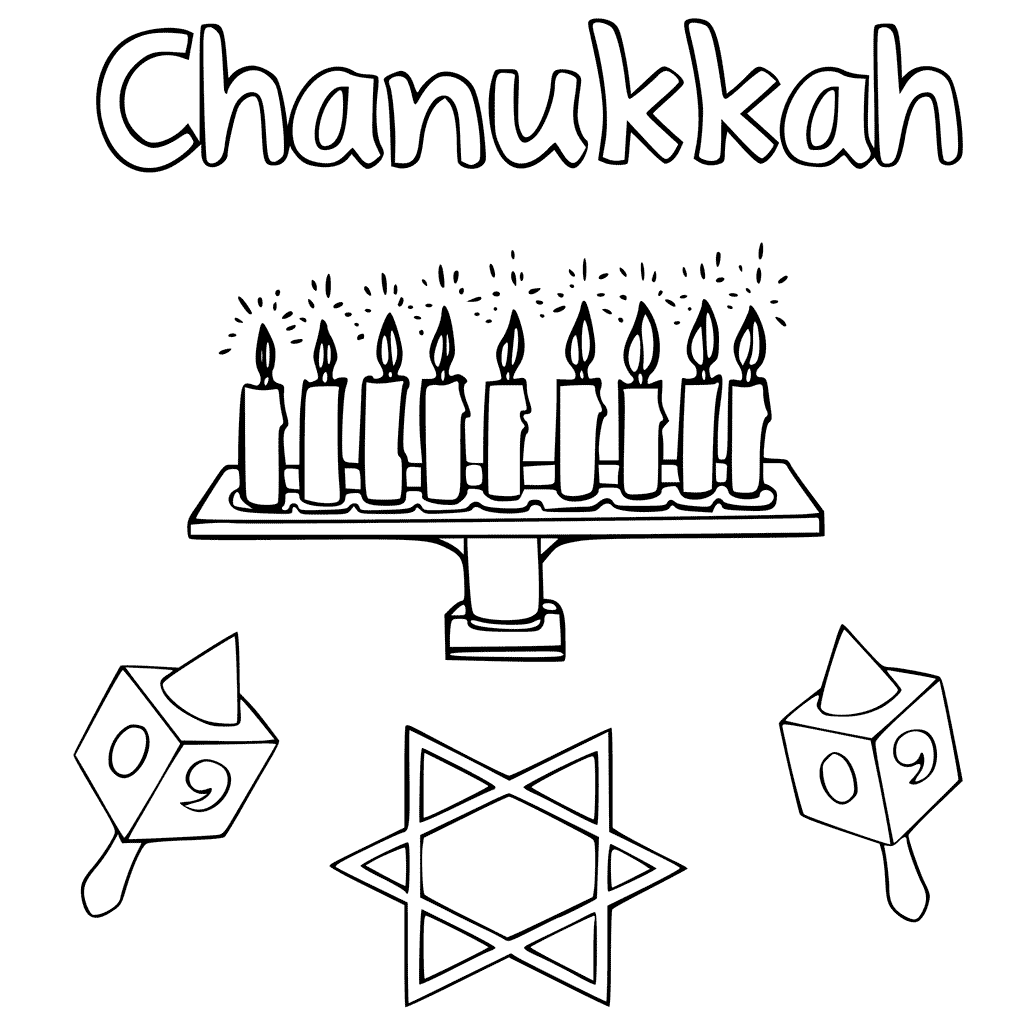 Chanukkah Coloring Pages Free Printable