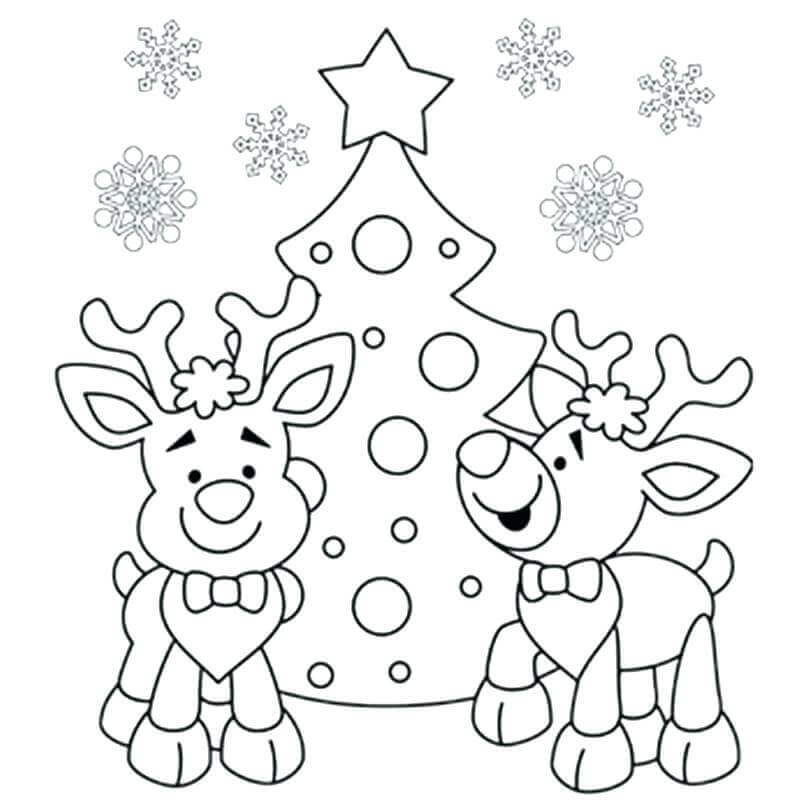 Christmas Coloring Pages For Preschoolers Printable