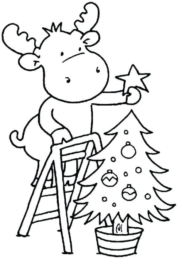 Christmas Coloring Pictures For Preschoolers