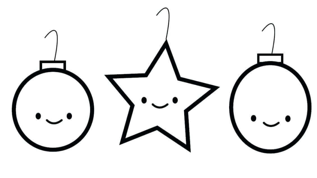Christmas Ornaments Coloring Pages For Kindergarten