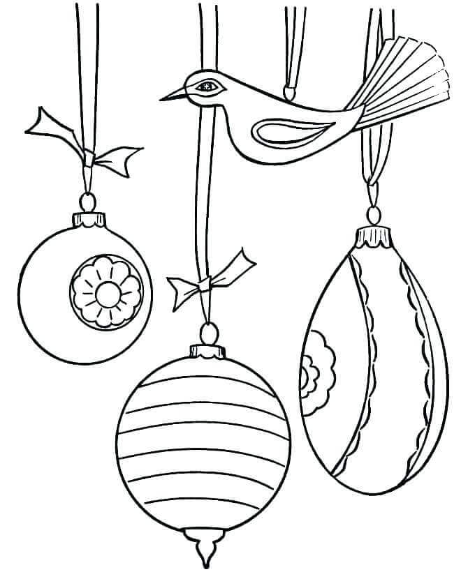 Christmas Ornaments Coloring Pictures To Print