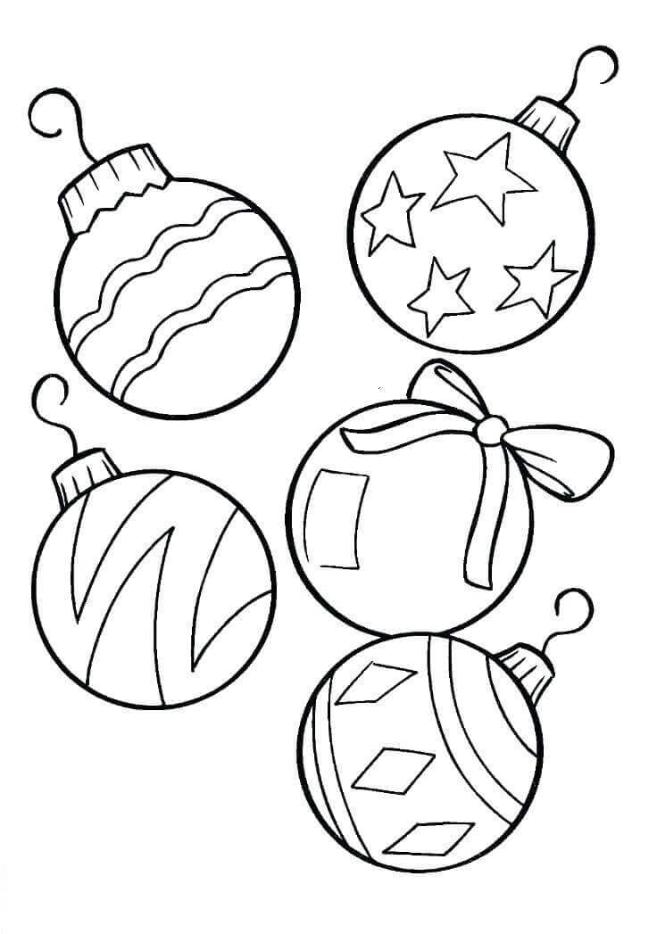 christmas ornaments coloring pictures