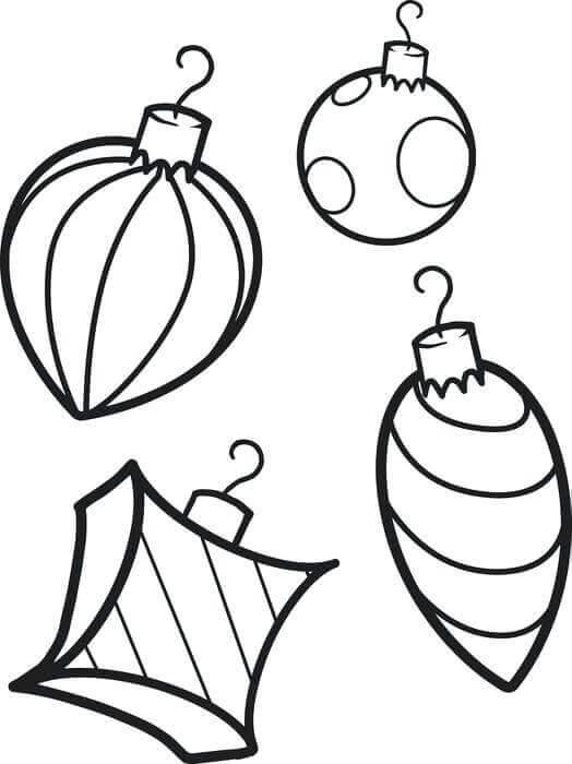 Christmas Ornaments Coloring Sheets