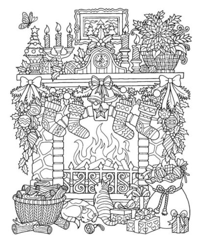 Christmas Stocking Coloring Pages For Adults