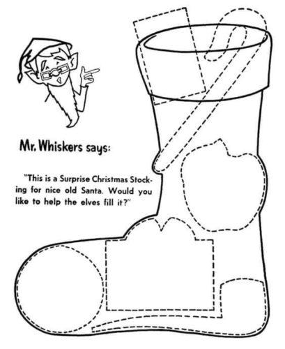 Christmas Stockings Activity Sheets For Kids