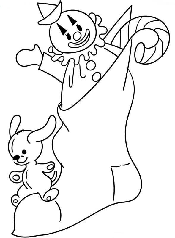 Christmas Stockings Coloring Pages Printable