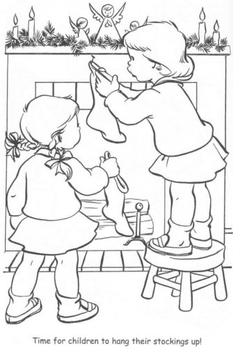 Christmas Stockings Coloring Sheet Free Printable