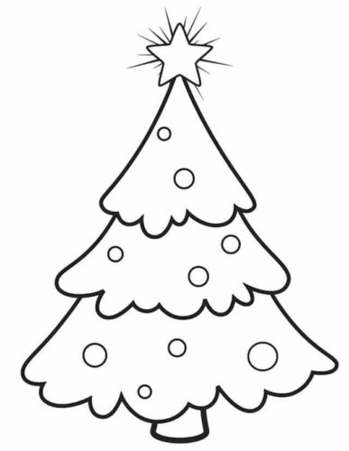 Christmas Tree Coloring Pages For Preschoolers