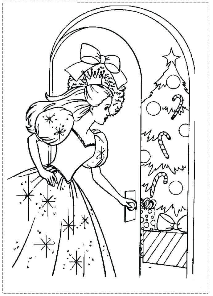 Clara The Nutcracker Coloring Page Printable