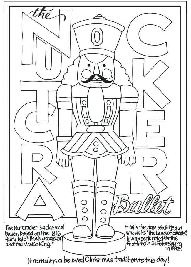 Coloring Pages Of Nutcracker