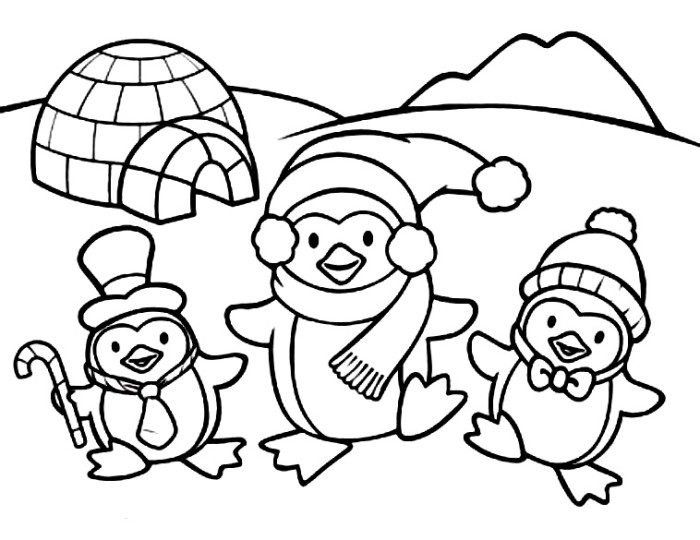 Cute Penguin Coloring Pages To Print