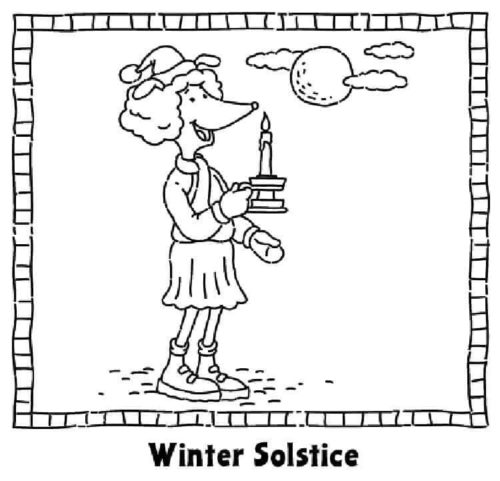 December Coloring Images Winter Solstice