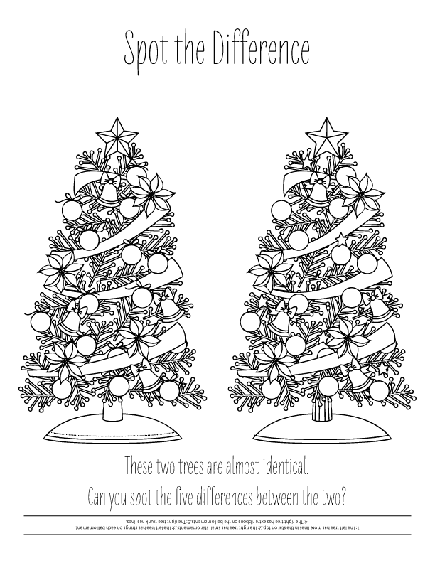December Coloring Pages Christmas Trees
