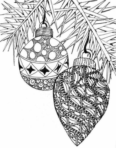 Detailed Ornaments Coloring Page