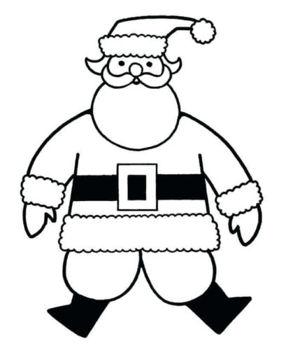 Easy Santa Claus Coloring Page