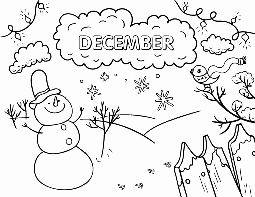 Free December Coloring Pages Printable