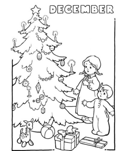 Free December Coloring Sheets Printable