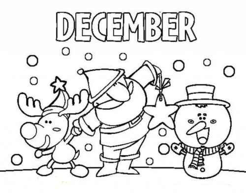 Free Printable December Coloring Pages