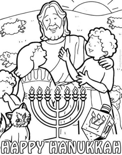 Chappy Chanukah coloring page | Free Printable Coloring Pages | 500x392