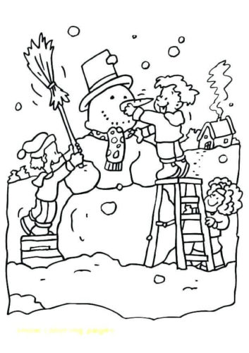Free Printable Snowman Coloring Sheets
