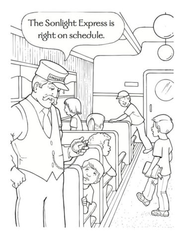Free The Polar Express Coloring Pages Printable
