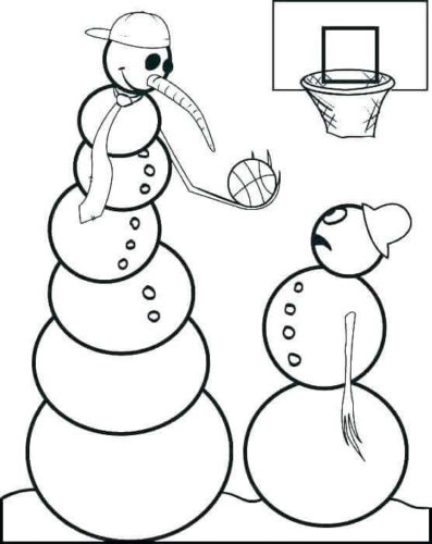 Funny Snowman Coloring Pages For Kids