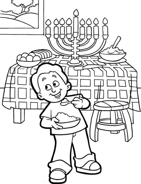 Hanukkah Coloring Book