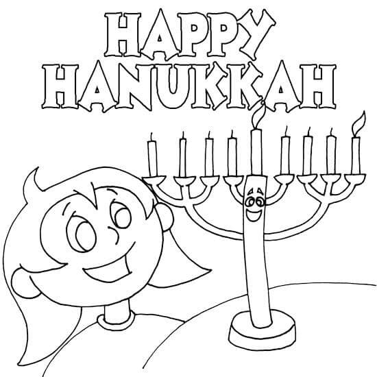 Happy Hanukkah Coloring Pages Printable