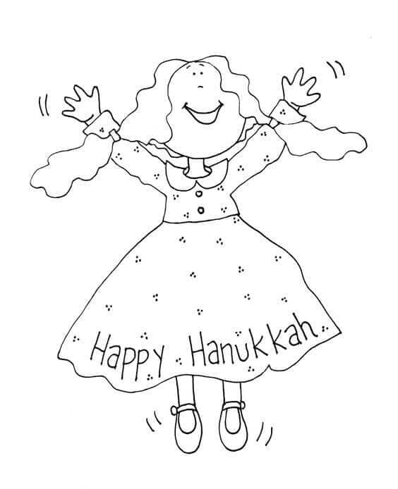 Happy Hanukkah Coloring Pages