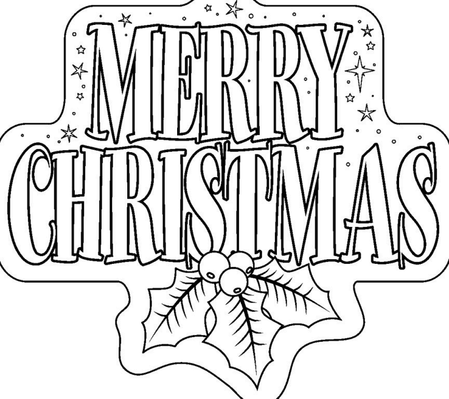Merry Christmas December Coloring Pages