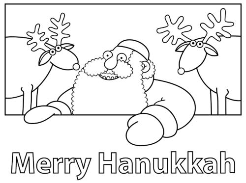 Merry Hanukkah Coloring Page