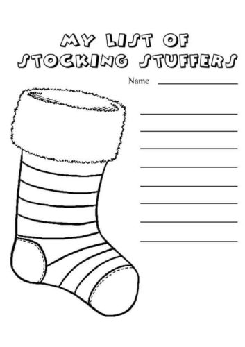 My List Of Stocking Stuffers Coloring Page
