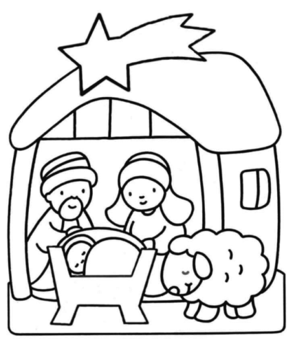 Nativity Play Coloring Page For Preschoolers