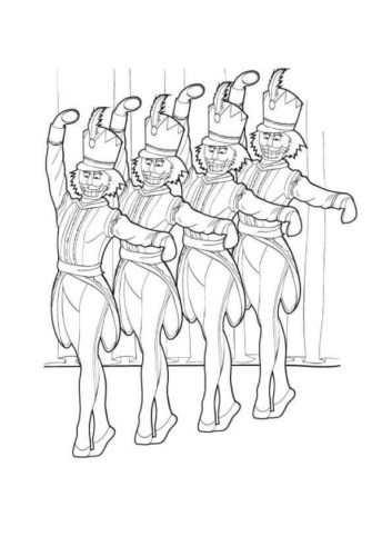 Nutcracker Ballet Coloring Pages Printable