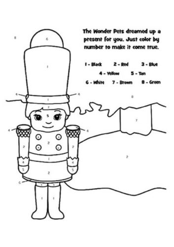 Nutcracker Color By Number Activity Sheet