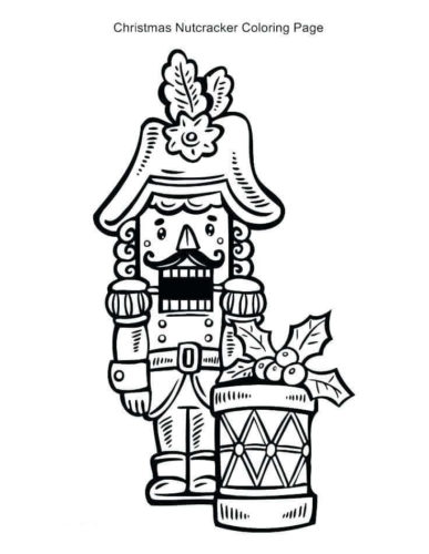 Nutcracker Colouring Pages Printable