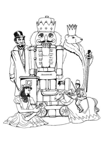 Nutcracker Film Coloring Pages