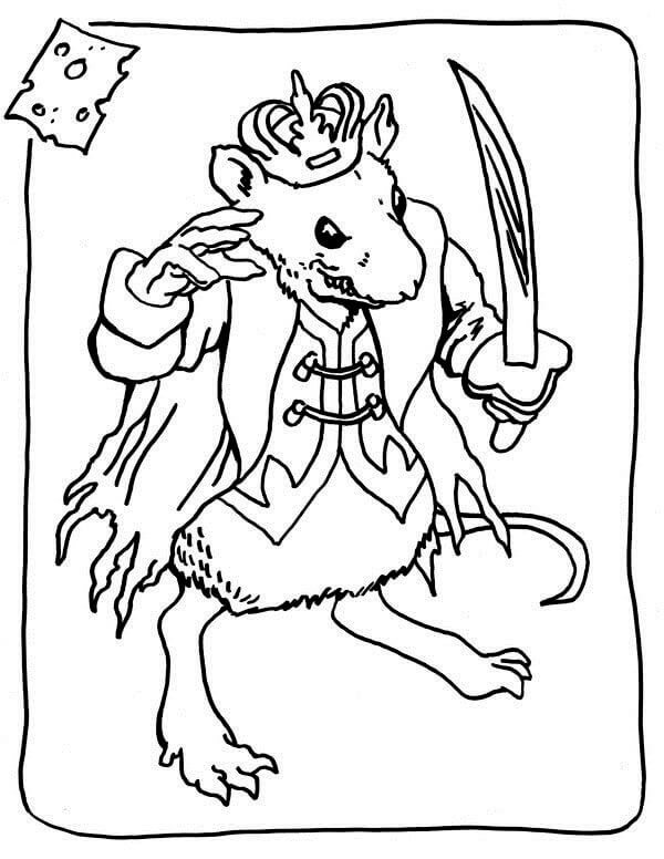 Nutcracker Mouse King Coloring Page