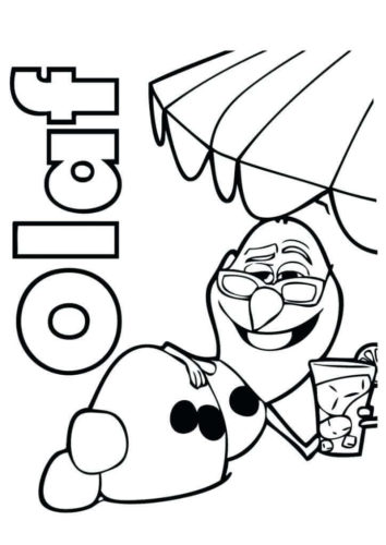 Olaf The Snowman Coloring Page