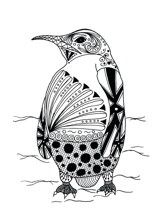 Penguin Coloring Pages For Adults