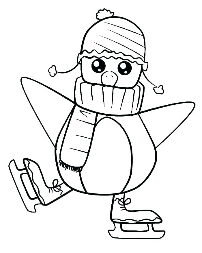 Penguin Colouring Pages Printable