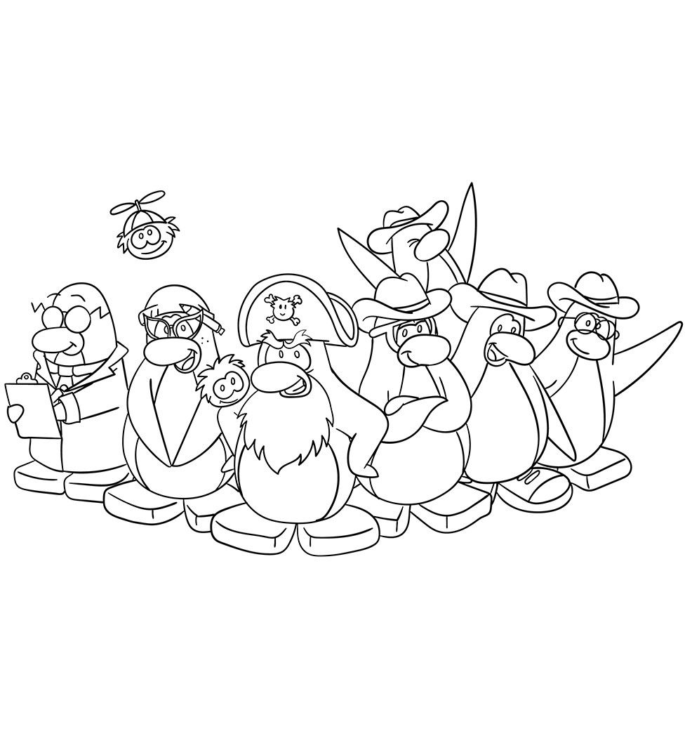 Penguins Coloring Pages To Print