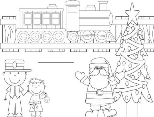 Polar Express Coloring Pages Printable