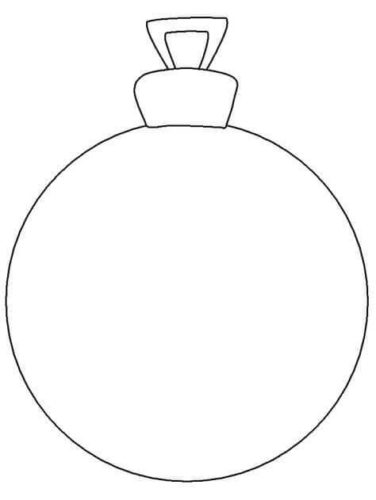 Printable Christmas Ornament Template