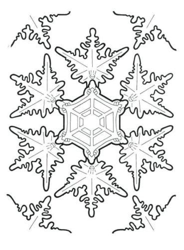 Printable Frozen Snowflakes