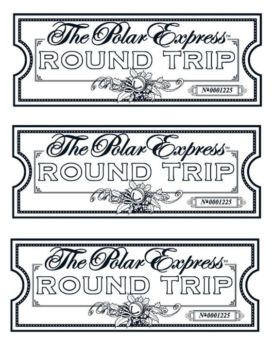 Printable Polar Express Tickets Boarding Passes