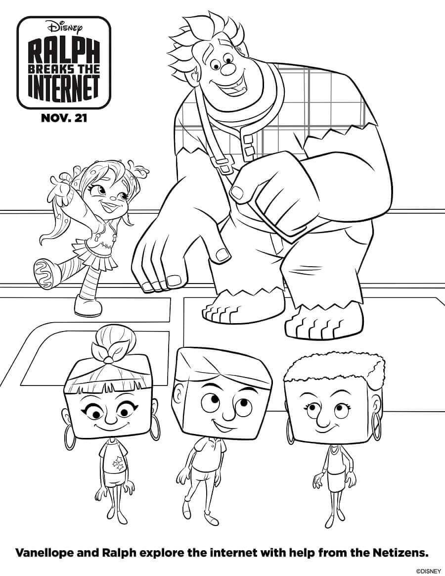 Ralph BreaksThe Internet Coloring Sheets Netizens
