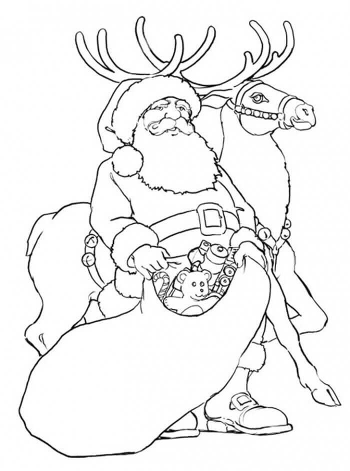 Reindeer Coloring Images To Print