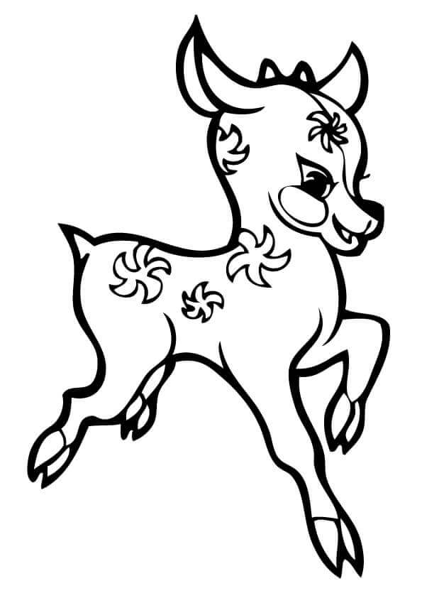 reindeer coloring pages pdf