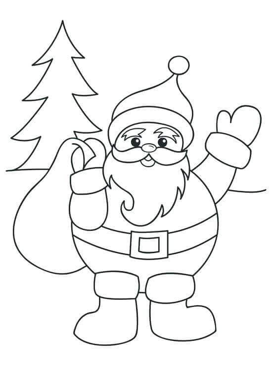 Santa Claus Coloring Pages For Preschoolers